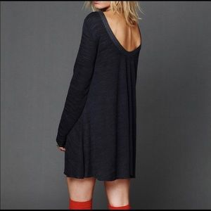 Free People Beach long sleeve swing dress